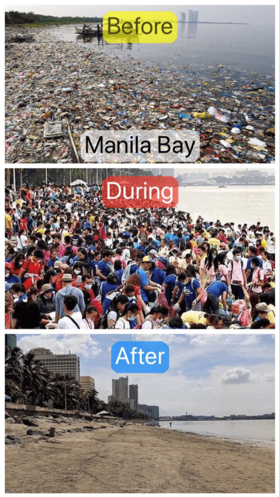 Before / During / After - Manila Bay